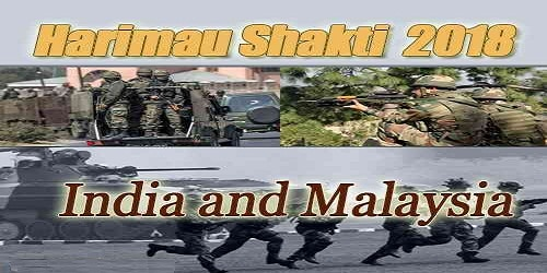 Exercise HARIMAU SHAKTI will be conducted in Malaysia from30 April 18 to 13 May 18