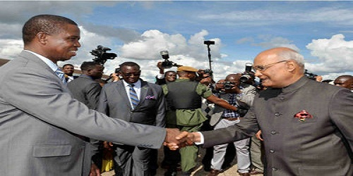 India and Zambia sign four agreements to strengthen the ties between two countries
