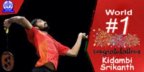 Ace shuttler Kidambi Srikanth becomes World No 1