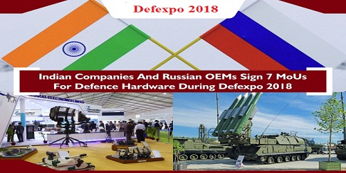 India, Russia sign seven MoU at Defence expo