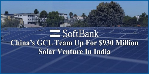 SoftBank, China's GCL team up for $930 million Indian solar venture