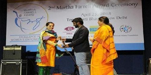 Nadiya Shafi has won the 2018's Martha Farrell Award for Excellence in women's empowerment