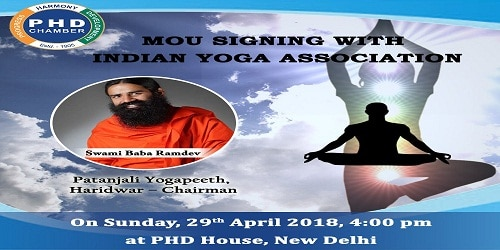 MoU signed between PHDCCI, Indian Yoga Association to promote yoga