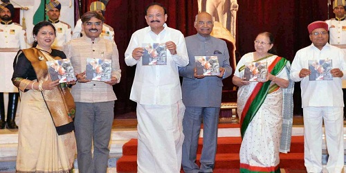 President of India Receives first copy of book 'Dr Babasaheb Ambedkar: Vyakti Nahin Sankalp'