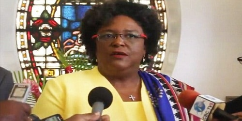 Mia Mottley as first woman PM of Barbados , wins by 100% majority