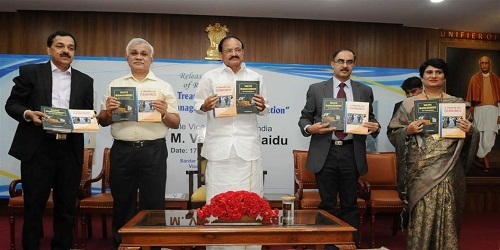 The Vice President of India, Shri M. Venkaiah Naidu Releases two books 'A Treatise on Cleanliness' & 'Waste Management, an Introduction'