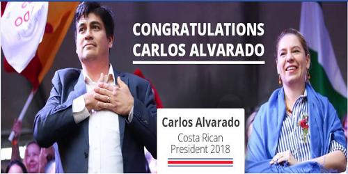 Carlos Alvarado is sworn in as Costa Rica's 48th president