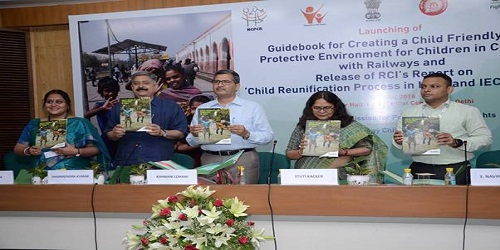 """Shri Ashwini Lohani launches """"Guidebook for Creating a Child Friendly and Protective Environment for Children in Contact with Railways'"""
