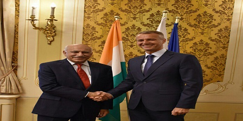 Visit of M J Akbar to Austria and the Slovak Republic
