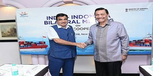 Shri Nitin Gadkari meets Indonesian Minister of Maritime Affairs to promote bilateral cooperation in maritime & infrastructure sector