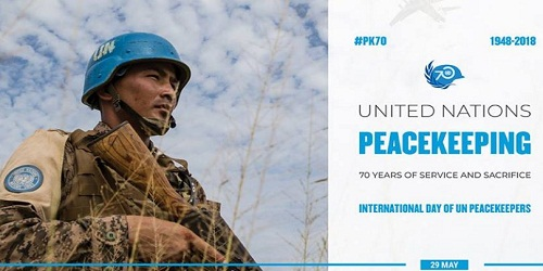 International Day of UN Peacekeepers for 70 years is being celebrated