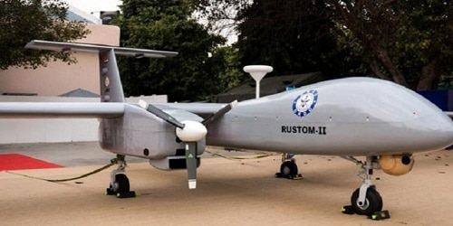 UAV Rustom-2 drone to be made by HAL and delivered by 2020 to all 3 wings of Armed Forces: DRDO chief