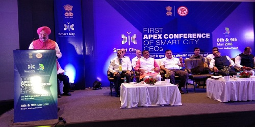 Hardeep Puri inaugurates the 'First Apex Conference for the CEOs of Smart Cities' in Bhopal