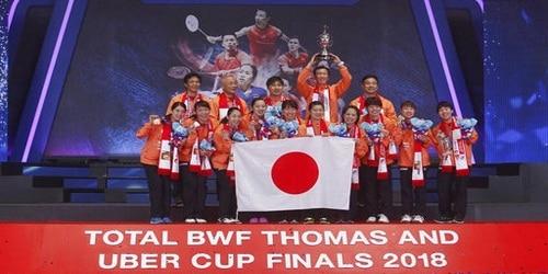 Japan's women win the Uber Cup ahead of Asian Games : Bangkok