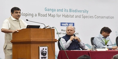 """Workshop on """"Ganga and its Biodiversity: Developing a road map for habitat and Species Conservation"""" inaugurated by Nitin Gadkari"""