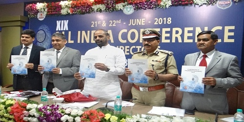 Union Minister of State for Home Affairs, Shri Hansraj Gangaram Ahir inaugurates the 2 day19th All India Conference of Directors of Finger Prints Bureau in Hyderabad