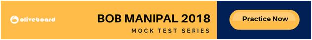 BOB Manipal 2018 Mock Test Series OB
