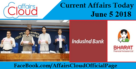 Current Affairs Today June5 2018
