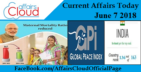 Current Affairs Today June 7 2018