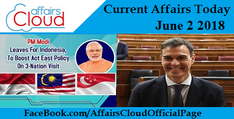 Current Affairs Today June 2 2018