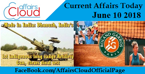Current Affairs Today June 10 2018