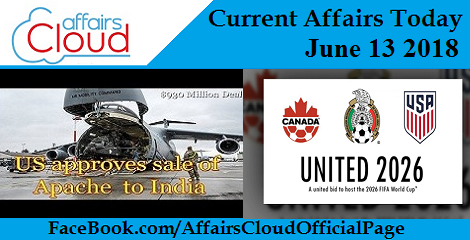 Current Affairs Today June 13 2018