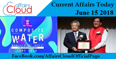 Current Affairs Today June 15 2018