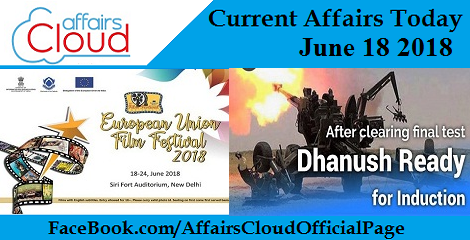 Current Affairs Today June 18 2018