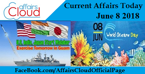 Current Affairs Today June 8 2018