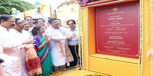 Union Petroleum andNatural GasMinisterDharmendra Pradhan inaugurates 2 CNG stations in Cuttack