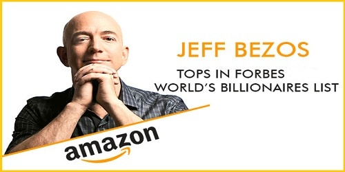 Amazon CEO Jeff Bezos becomes world's richest man with a net worth of $141.9 billion