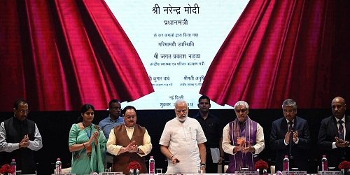 Foundation stone of National Centre for Ageing laid at AIIMS by the PM;dedicated a tunnel connectin AIIMS and JNPA and 807 bedded Super specialty Block at Safdarjung