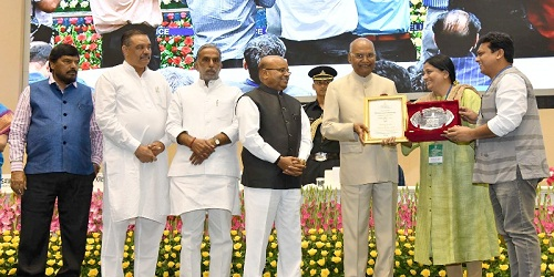 President of India presents the National Awards for Outstanding Services in the field of Prevention of Alcoholism & Substance (drug) abuse