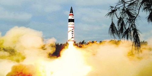 India successfully test-fires indigenously developed nuclear capable long range Ballistic missile Agni-5 off Odisha coast
