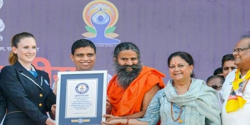 Kota in Guinness World Records for largest yoga session with the presence of 1.05 lakh people