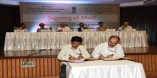 Ministries of MSME and Ayush Sign MoU for the Development of Ayush Enterprises