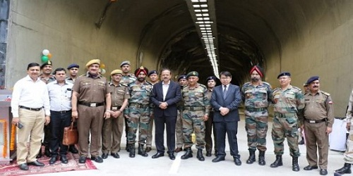 MoS for Defence, Dr Subhash Bhamre dedicates 578 m long highway tunnel at Theng near Chungthang in north Sikkim to nation