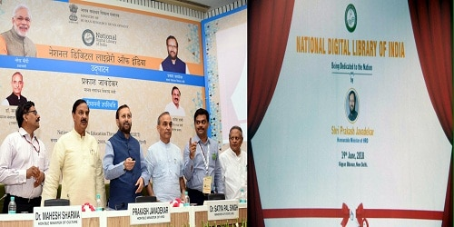 HRD Minister Prakash Javadekar launches National Digital Library on National Reading Day.