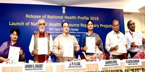 Shri J P Nadda, Union Minister of Health and Family Welfare released the National Health Profile (NHP)-2018 and National Health Resources Repository (NHRR)