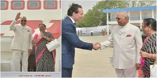 President Kovind leaves for 3 nation visit of Greece , Suriname and Cuba