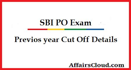 SBI PO Cut Off