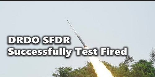 Maiden test Next Generation SFDR Air to Air Missile successfully conducted