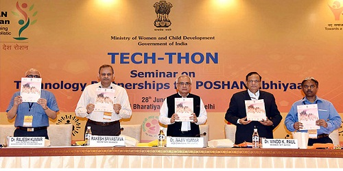TECH-THON: Seminar on Technology Partnership for POSHAN Abhiyaan in New Delhi; organized by WCD Ministry