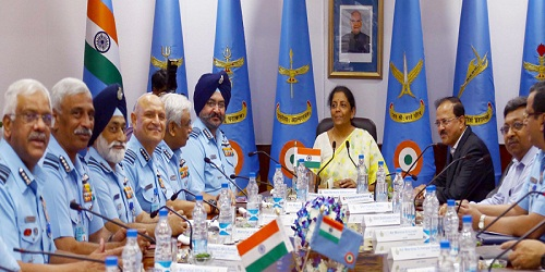 The First biannual IAF Commanders' Conference 2018 commenced at the Air Headquarters.