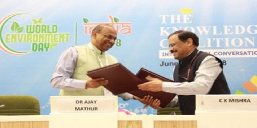 The MoEFCC signed an MoU with TERI for setting up a resource efficiency cell