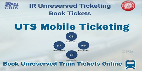 Cashless Ticketing through 'Utsonmobile' app developed by CRIS (Centre for Railway Information System)