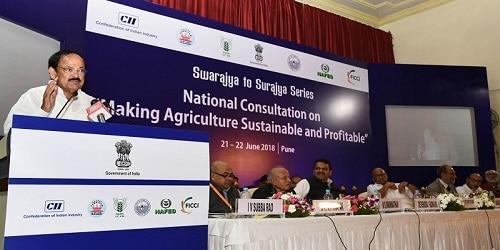 Vice President Shri M. Venkaiah Naidu led two-day National Consultation on Farm Sector issuesin Pune , Maharastra.