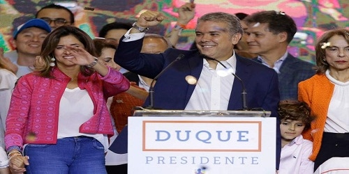 Ivan Duque elected as Colombia's new president