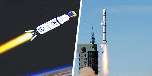 2 satellites PRSS-1 and PAK-TES-1A were launched from the Jiuquan Satellite Launch Center in northwest China