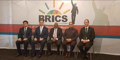 J P Nadda addresses 8th BRICS Health Ministers' Meeting at Durban, South Africa